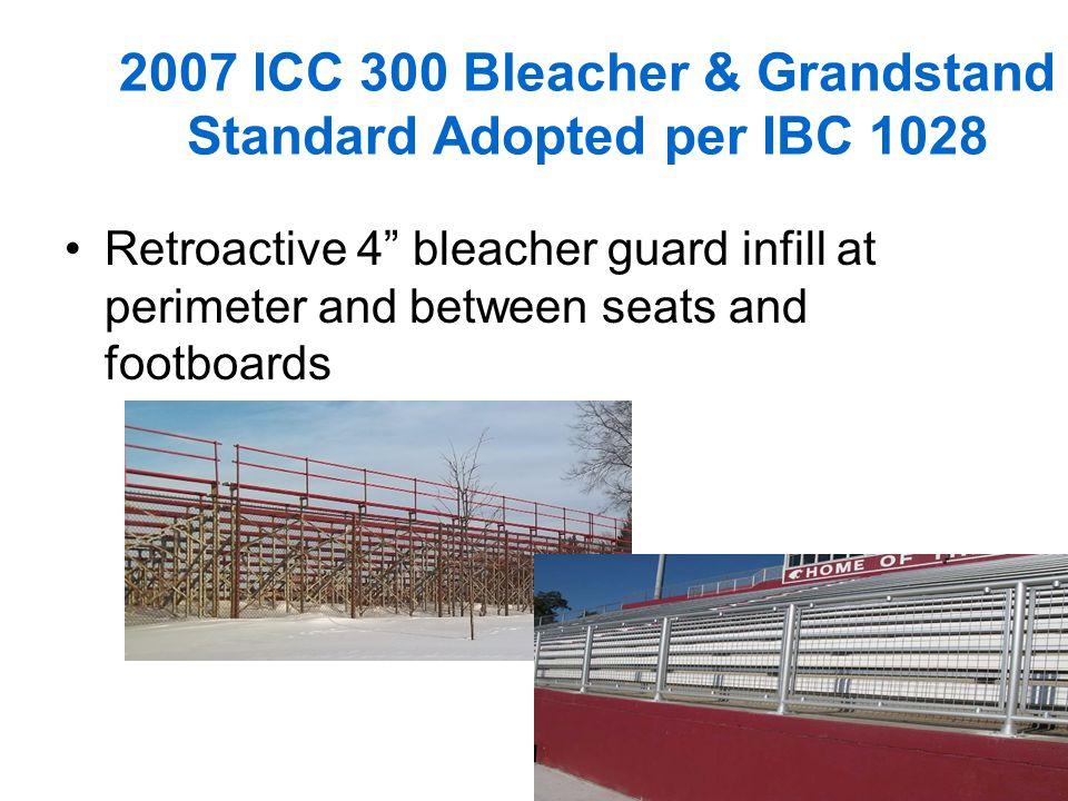 2007 ICC 300 Bleacher & Grandstand Standard Adopted per IBC 1028