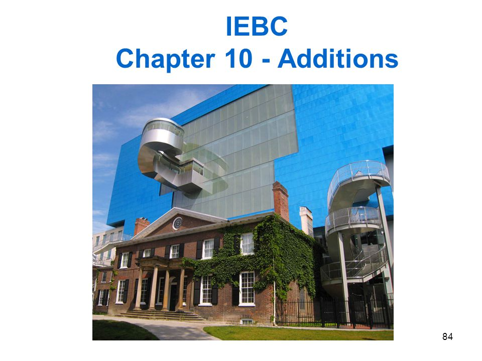 IEBC Chapter 10 - Additions