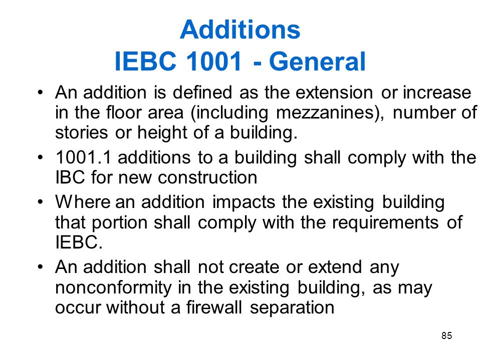 Additions IEBC 1001 - General