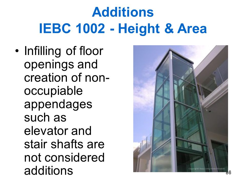 Additions IEBC 1002 - Height & Area