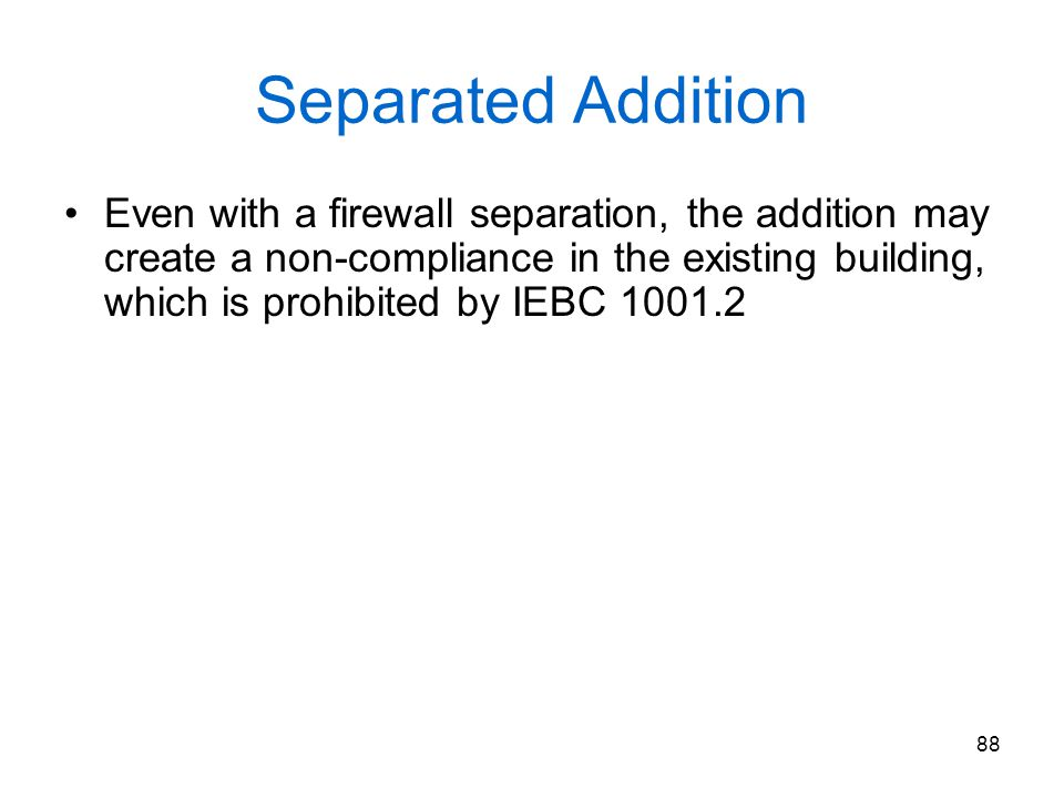 Separated Addition