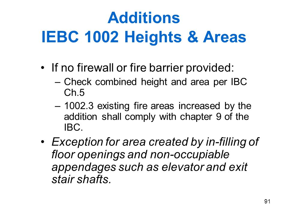 Additions IEBC 1002 Heights & Areas