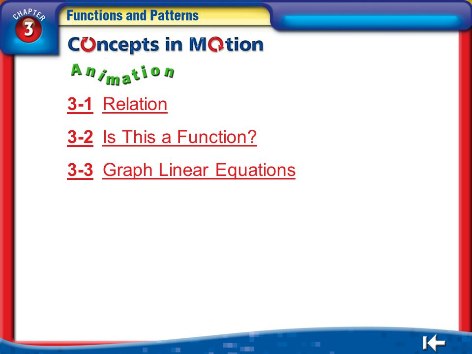 3-3 Graph Linear Equations