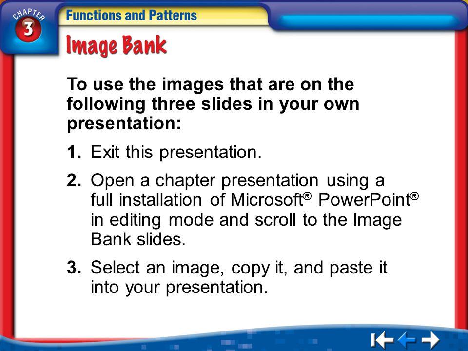 1. Exit this presentation.
