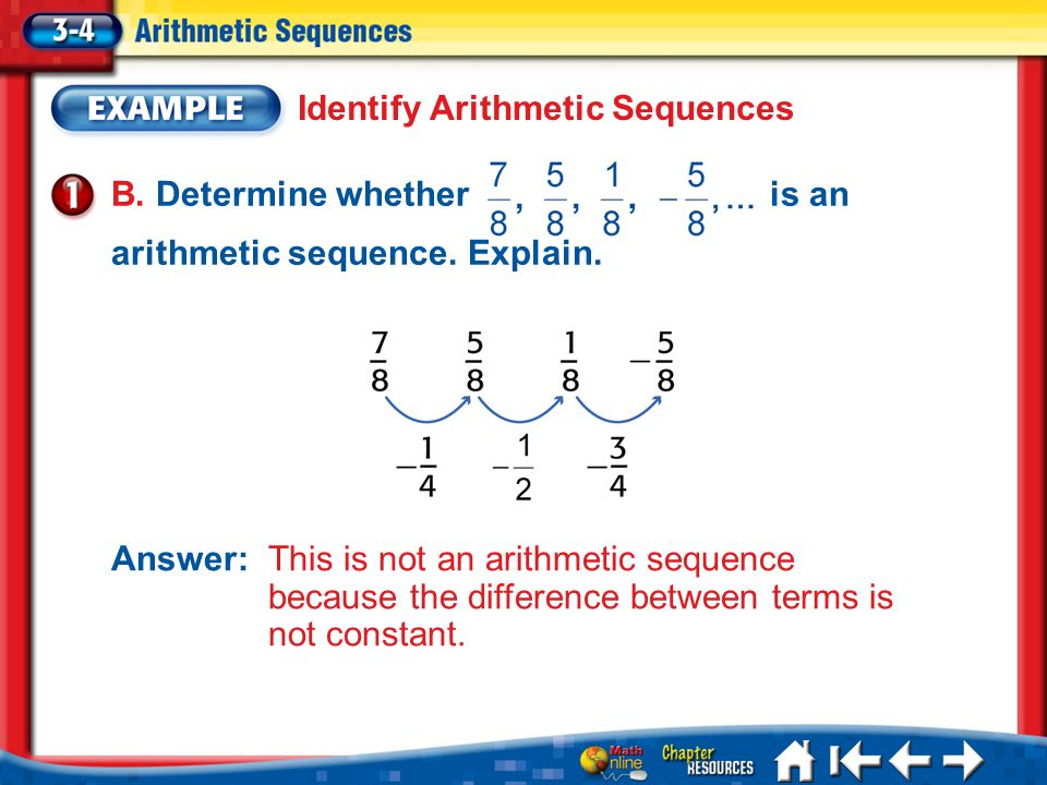 Identify Arithmetic Sequences