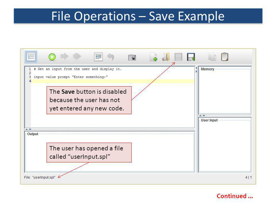 File Operations – Save Example