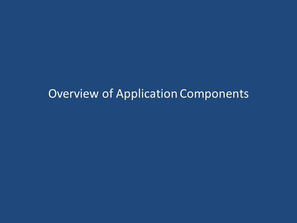 Overview of Application Components