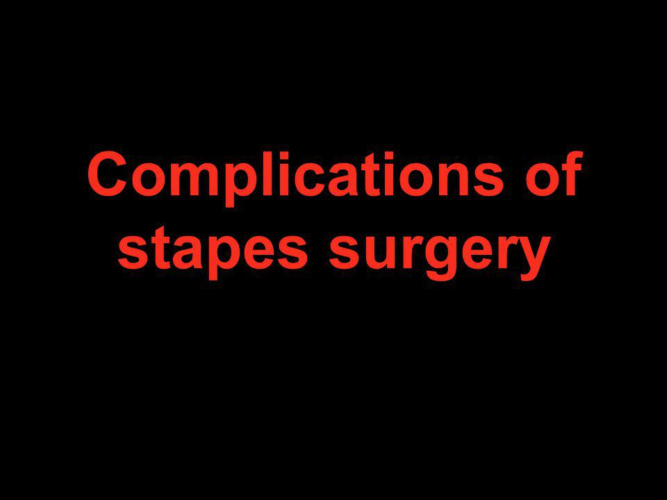 Complications of stapes surgery