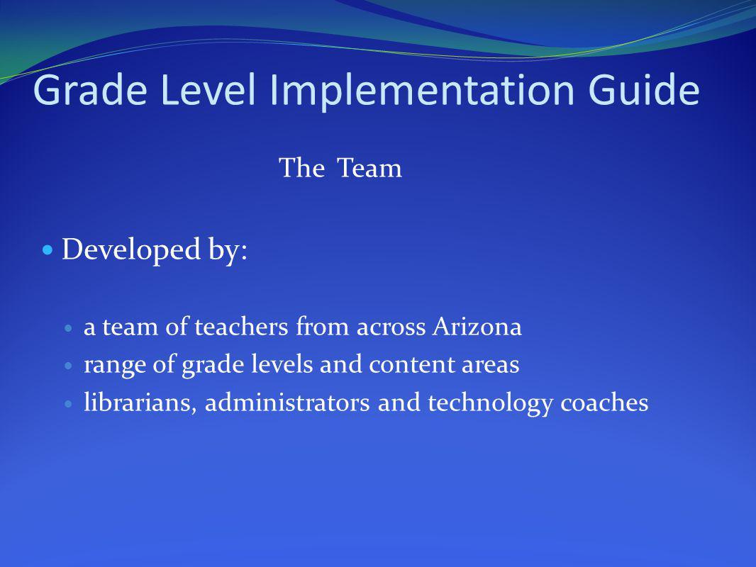 Grade Level Implementation Guide