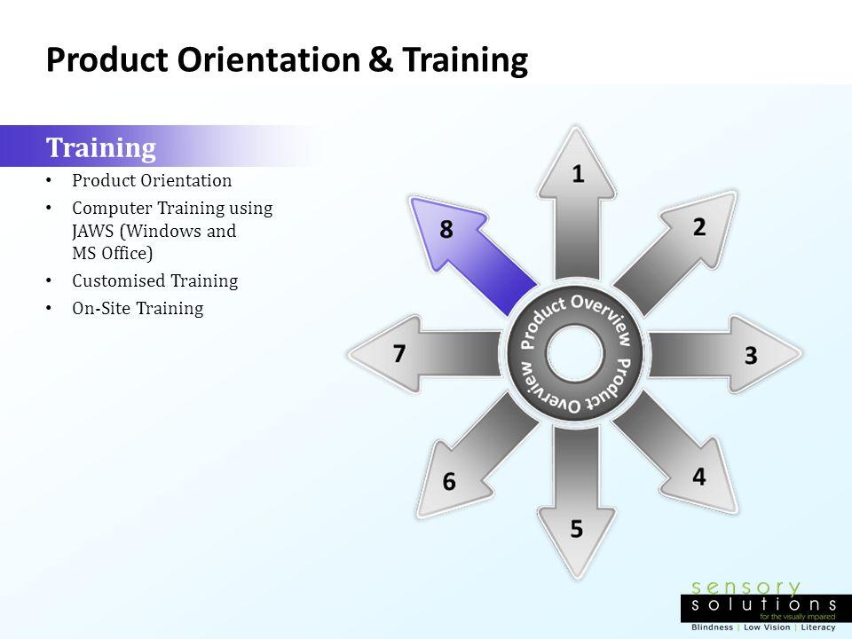 Product Orientation & Training