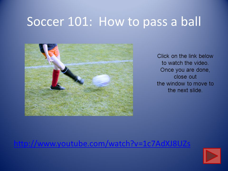Soccer 101: How to pass a ball