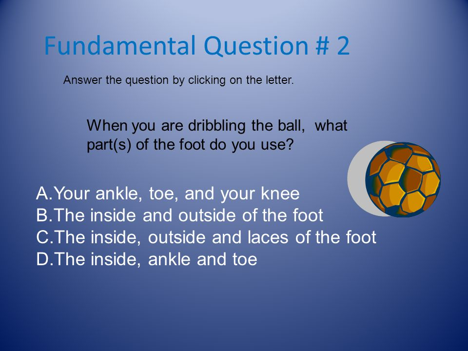 Fundamental Question # 2