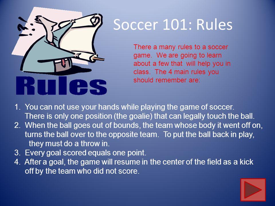 Soccer 101: Rules