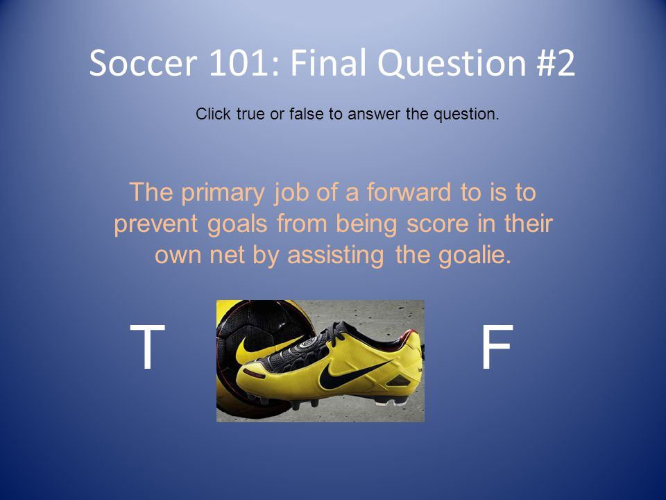 Soccer 101: Final Question #2
