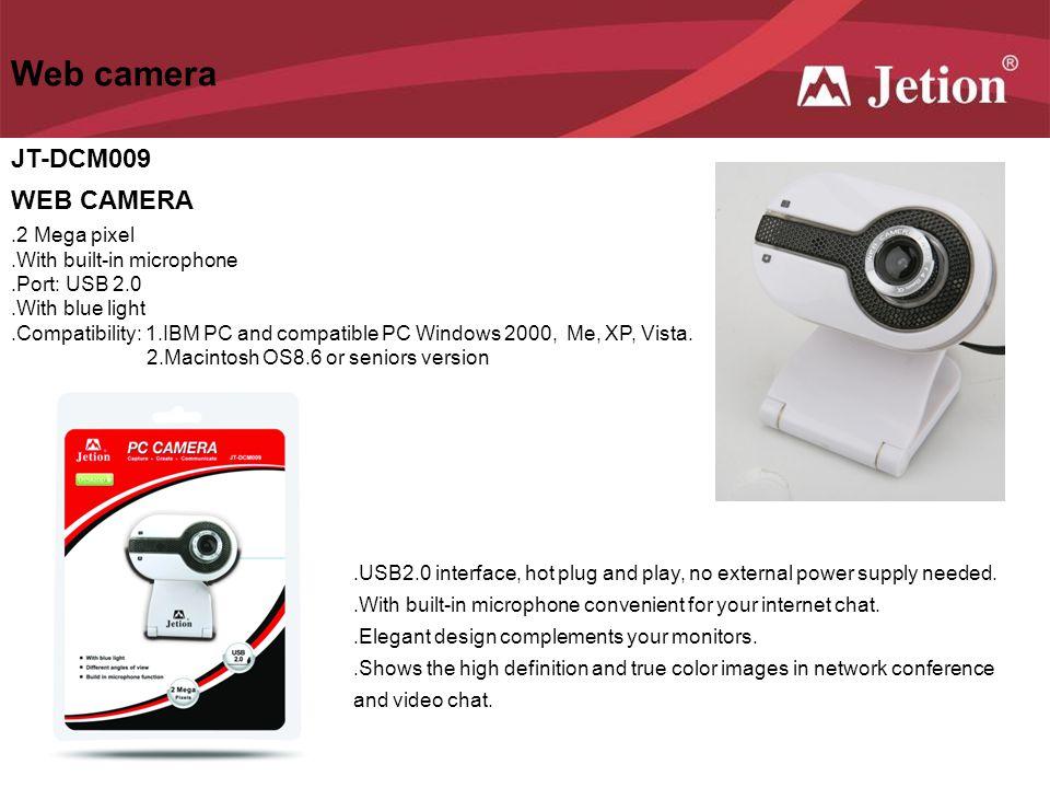 Web camera JT-DCM009 WEB CAMERA .2 Mega pixel
