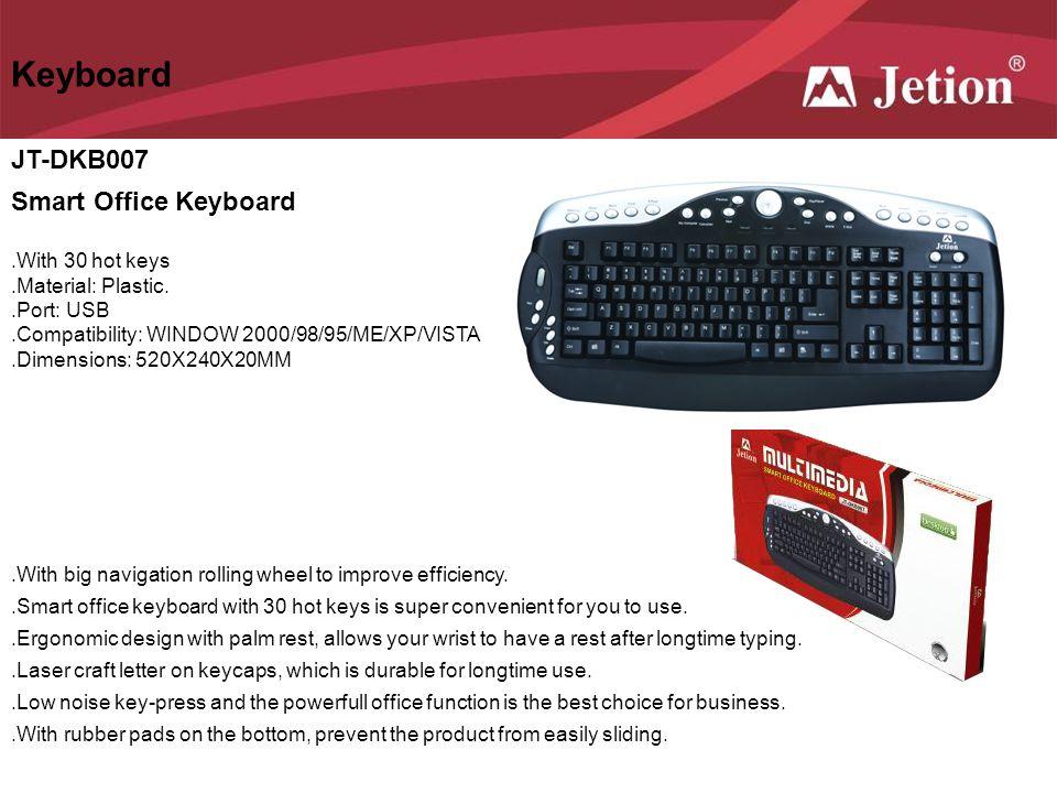 Keyboard JT-DKB007 Smart Office Keyboard .With 30 hot keys