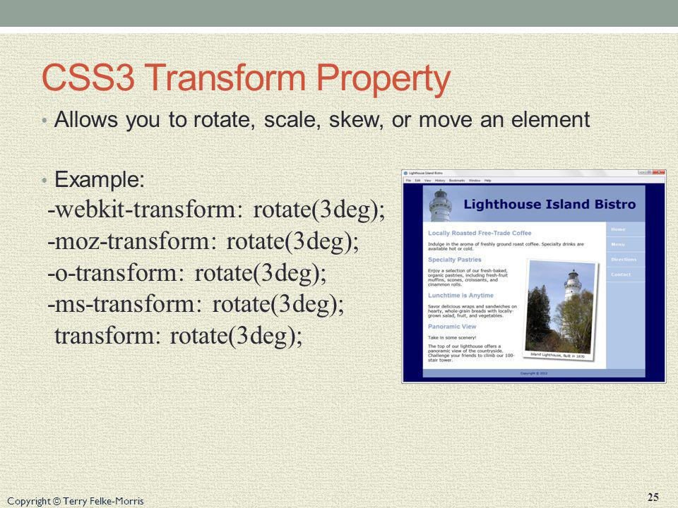 CSS3 Transform Property