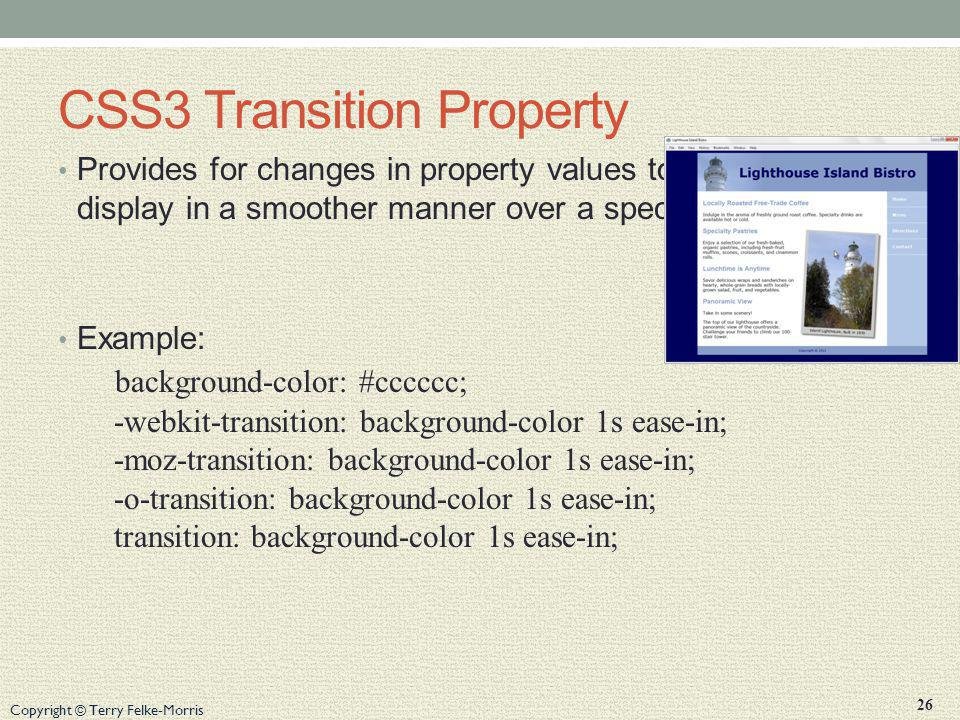 CSS3 Transition Property