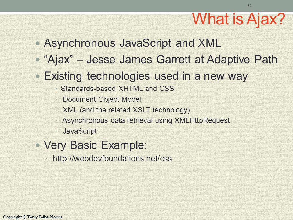 What is Ajax Asynchronous JavaScript and XML