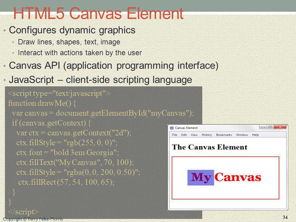 HTML5 Canvas Element Configures dynamic graphics