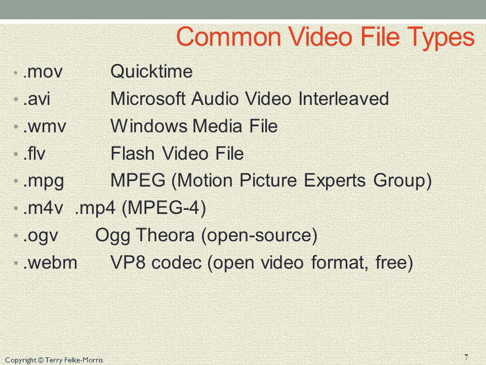 Common Video File Types
