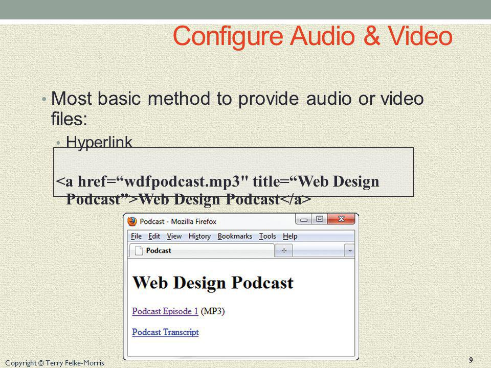 Configure Audio & Video