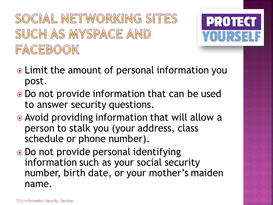 Social networking sites such as MySpace and Facebook