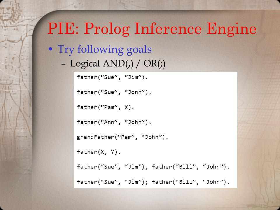 PIE: Prolog Inference Engine