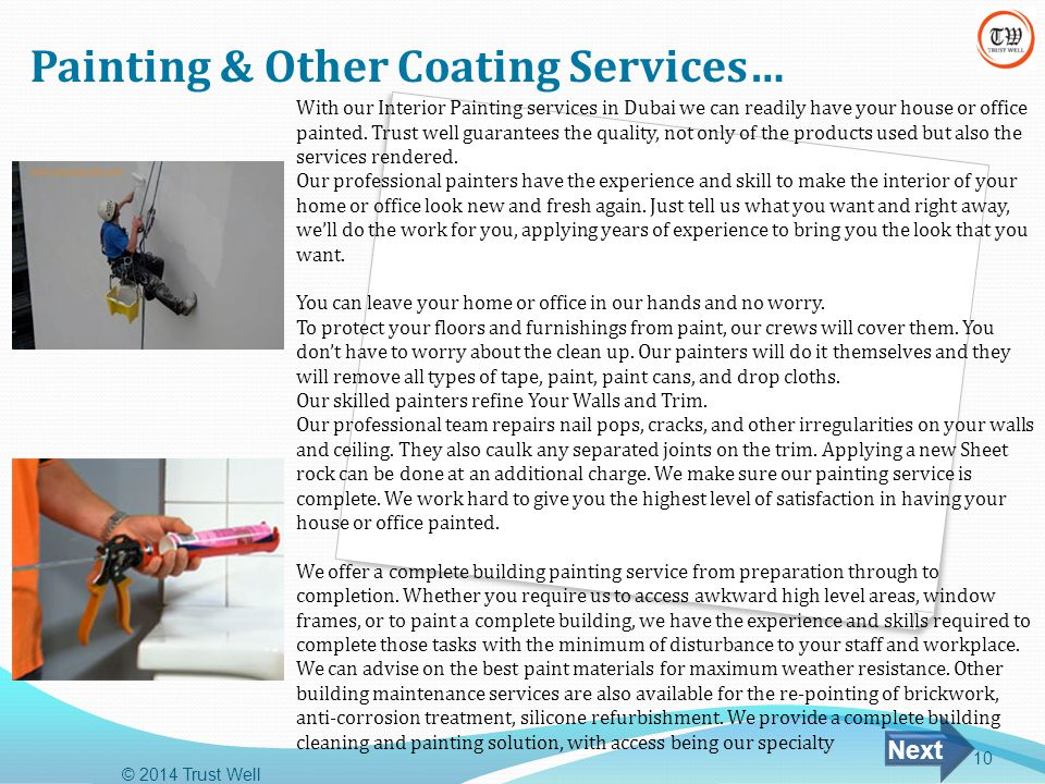Painting & Other Coating Services…