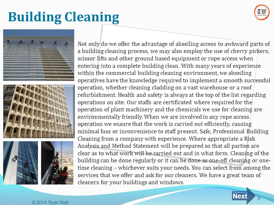 Building Cleaning Next