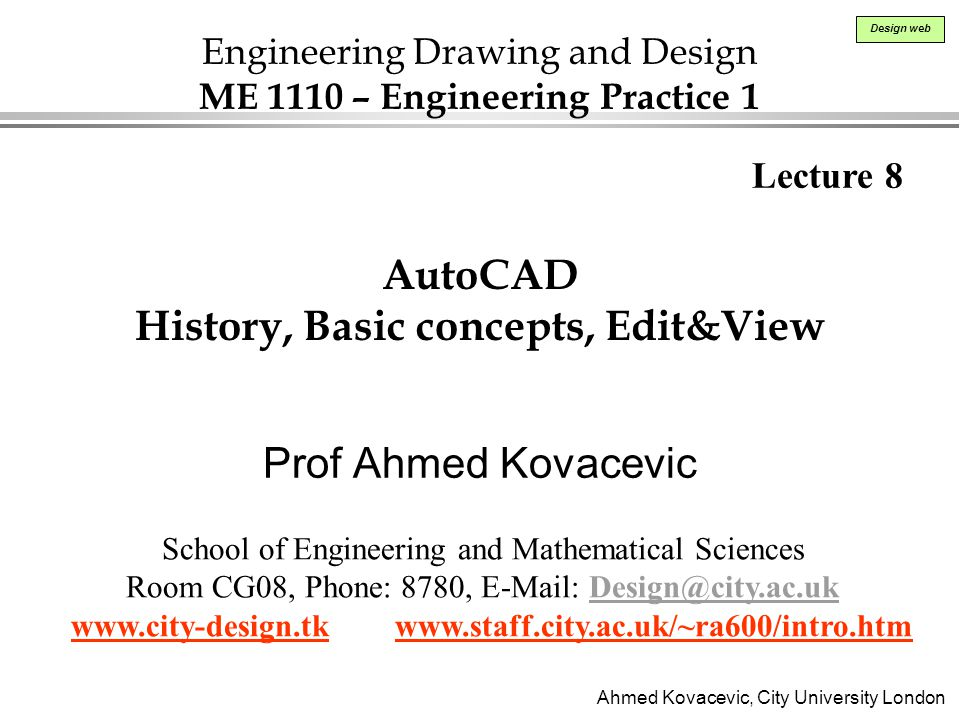 AutoCAD History, Basic concepts, Edit&View