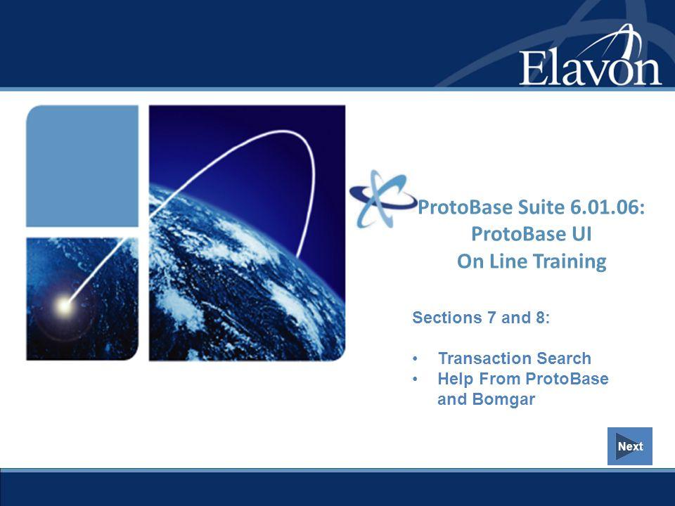 ProtoBase Suite 6.01.06: ProtoBase UI On Line Training