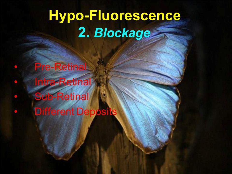 Hypo-Fluorescence 2. Blockage