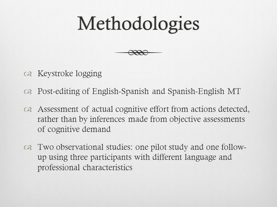 Methodologies Keystroke logging