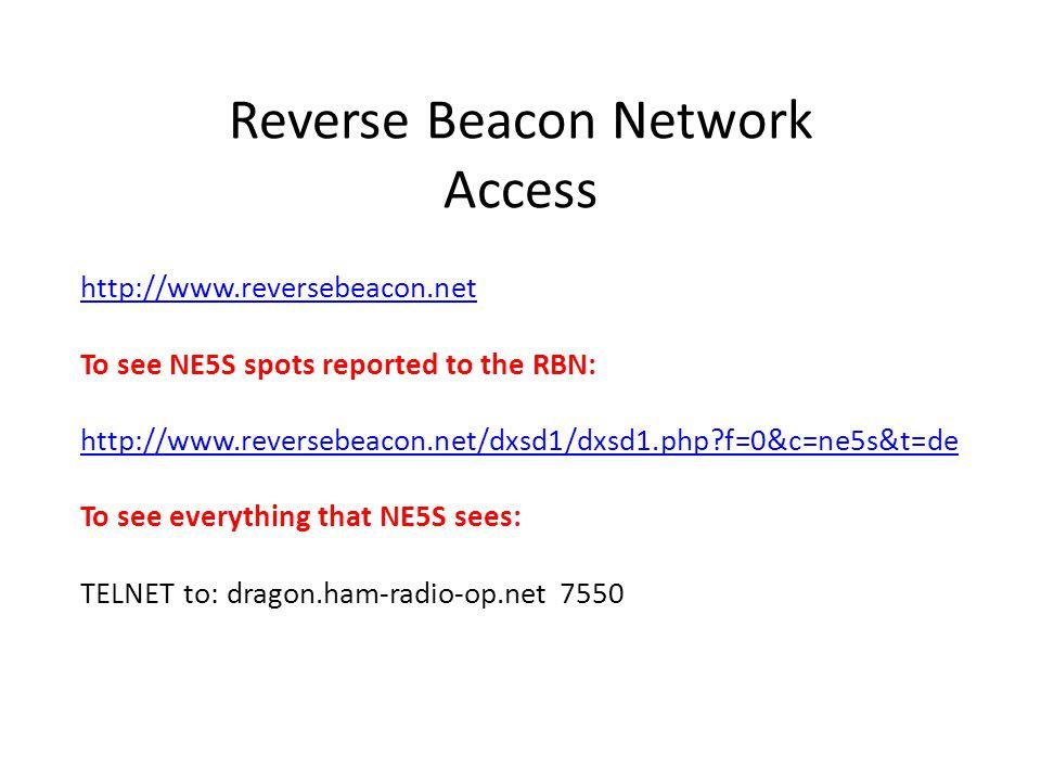 Reverse Beacon Network Access