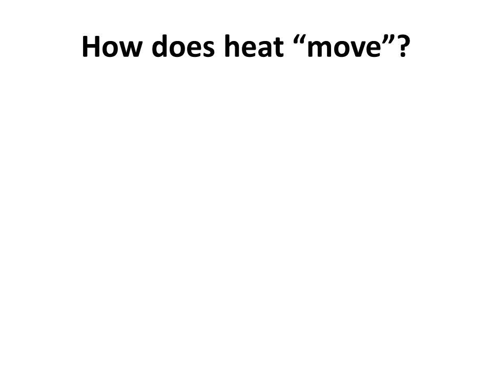 How does heat move