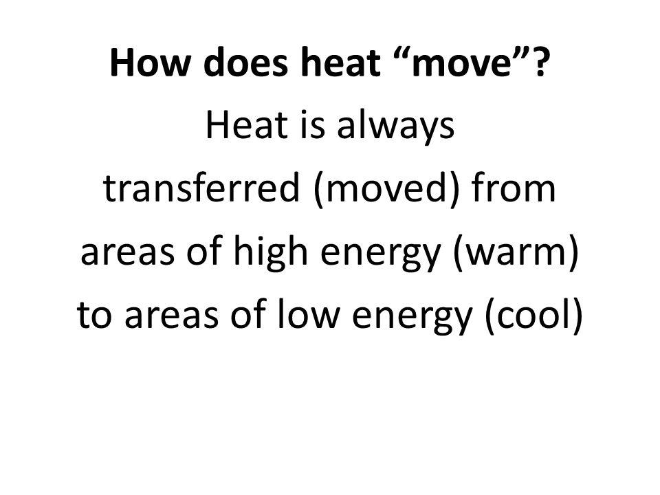 How does heat move .