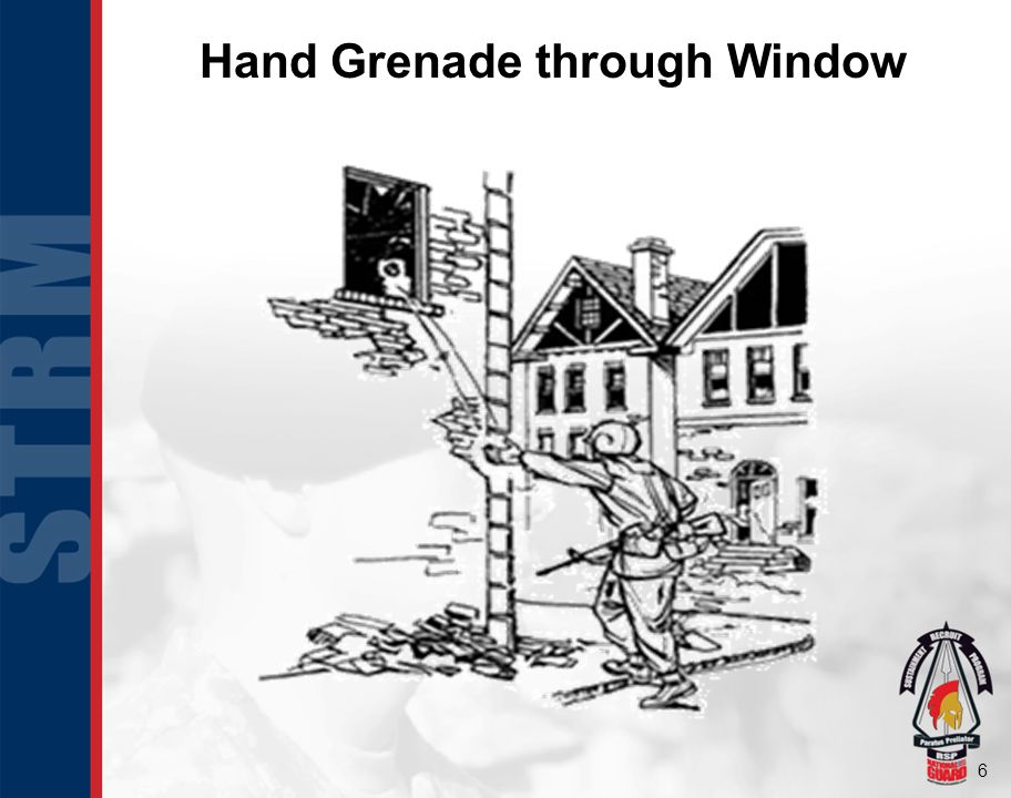 Hand Grenade through Window