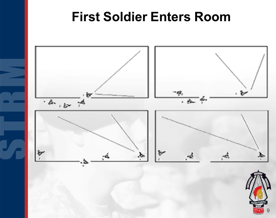 First Soldier Enters Room