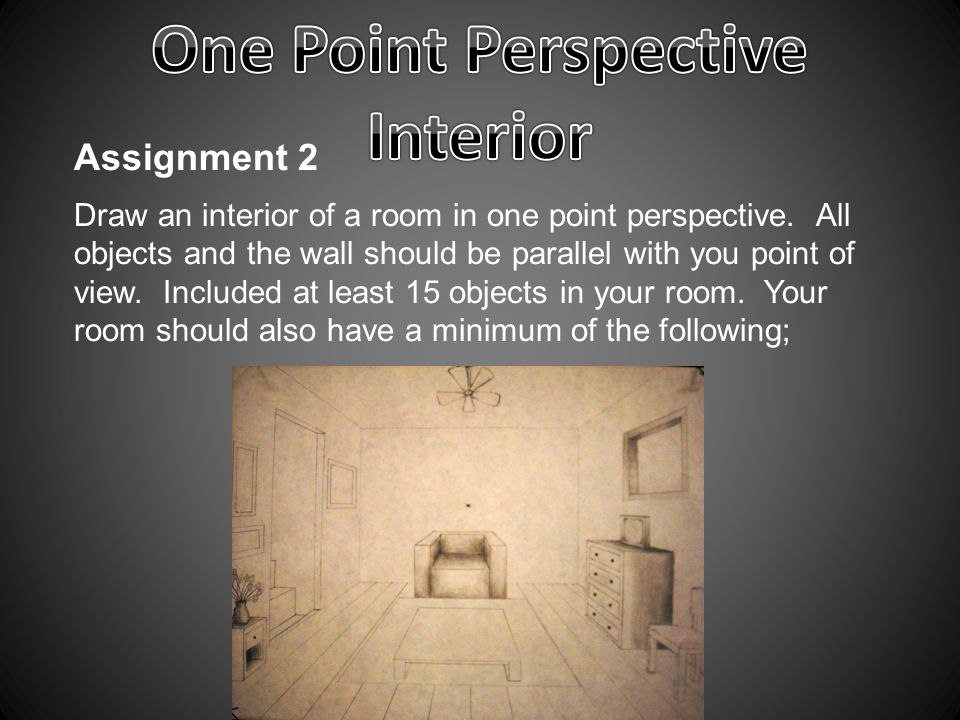 One Point Perspective Interior - ppt video online download