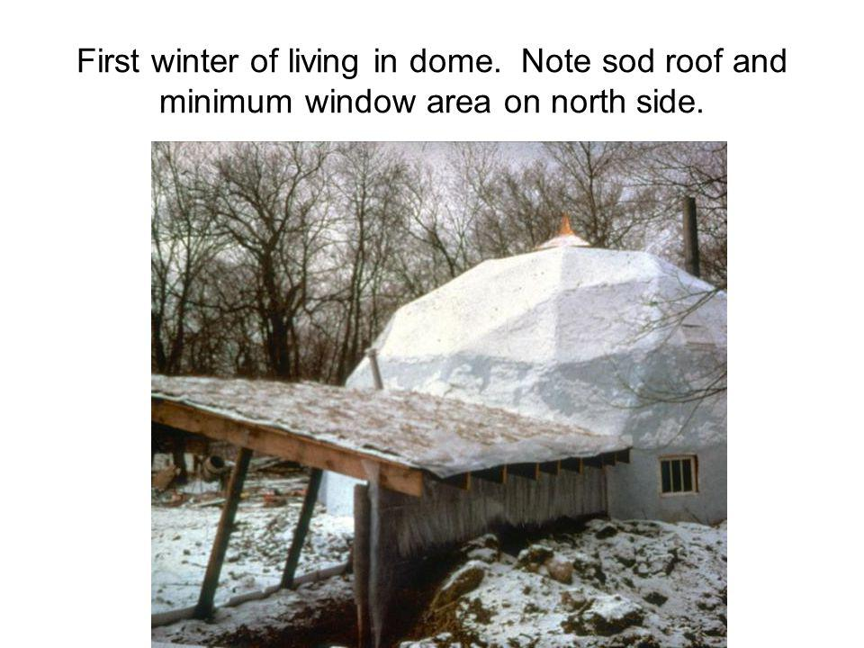 First winter of living in dome