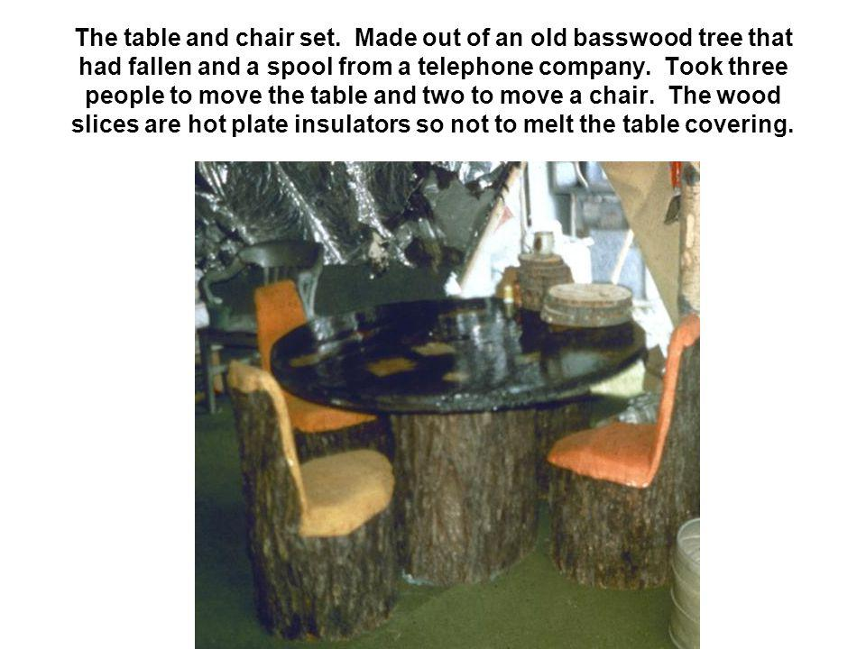 The table and chair set.