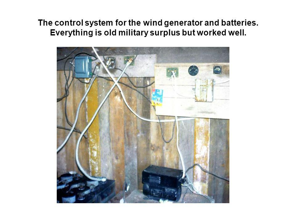 The control system for the wind generator and batteries