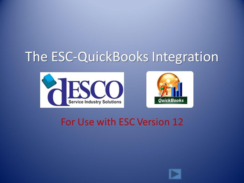 The ESC-QuickBooks Integration