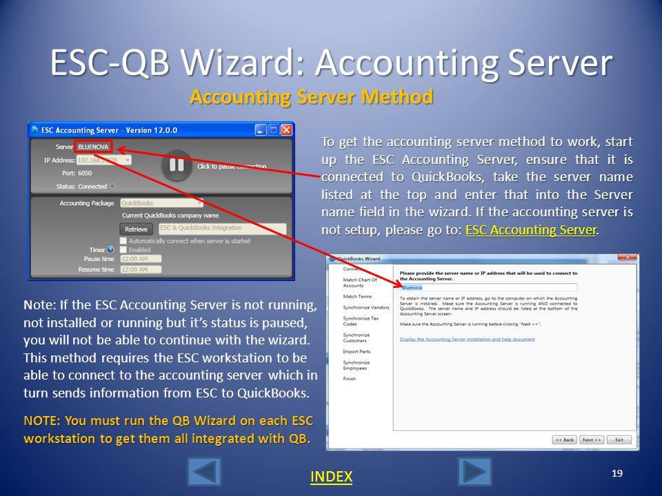 ESC-QB Wizard: Accounting Server