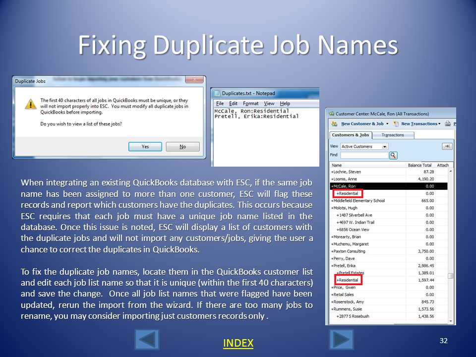 Fixing Duplicate Job Names