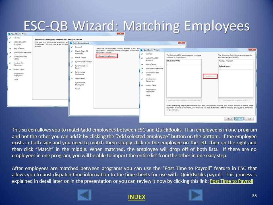 ESC-QB Wizard: Matching Employees