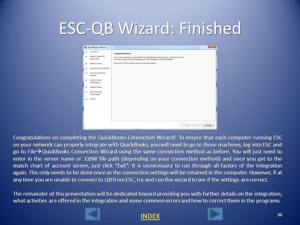 ESC-QB Wizard: Finished