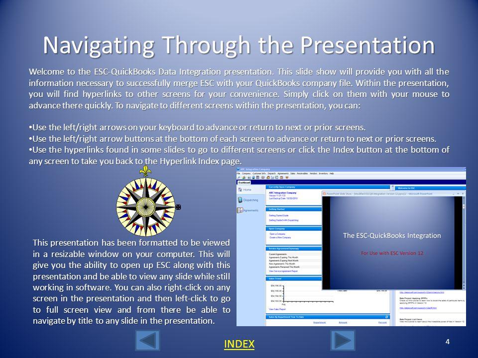 Navigating Through the Presentation