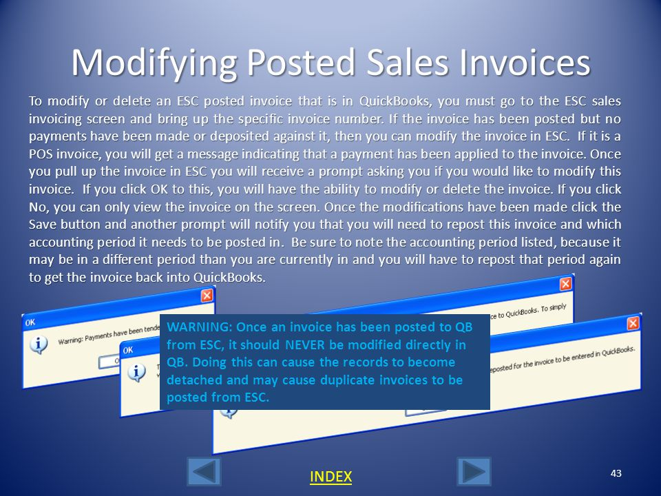 Modifying Posted Sales Invoices